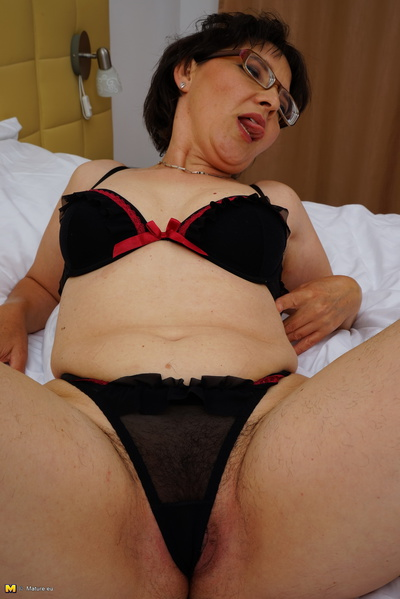 Hairy mature lady getting Hot by herself