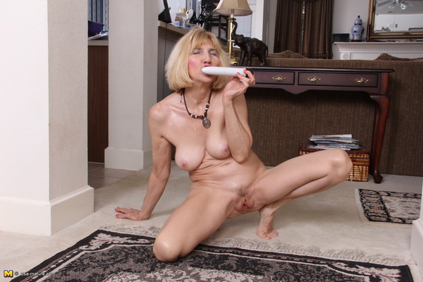 Busty blonde loves playing her tight pussy