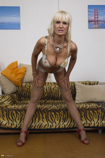 Hot blonde granny knows how to fuck 2