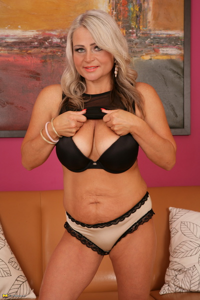image Mom single mom loves filming her big breasts getting covered